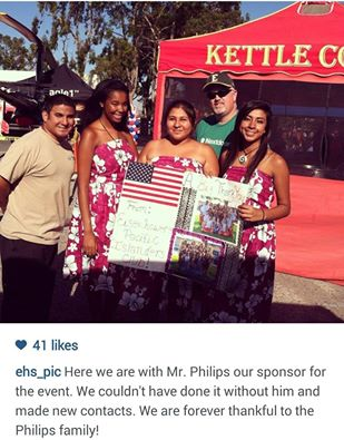 We sponsored Eisenhower High Schools Polynesian Club at our booth at National Night Out 2014